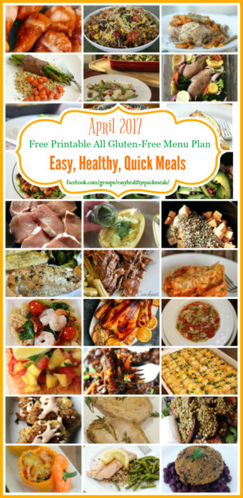 easy and healthy meal plans for dinner
