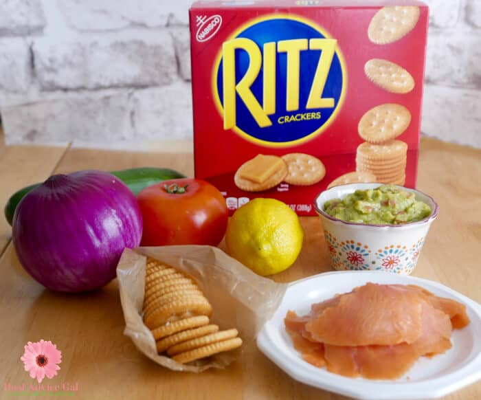 RITZ crackers with toppings