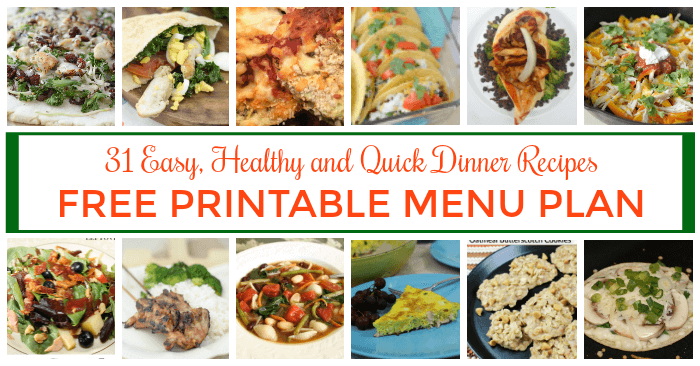 Serve easy, healthy and quick meals to your family every day. Check out these 31 dinner recipes.