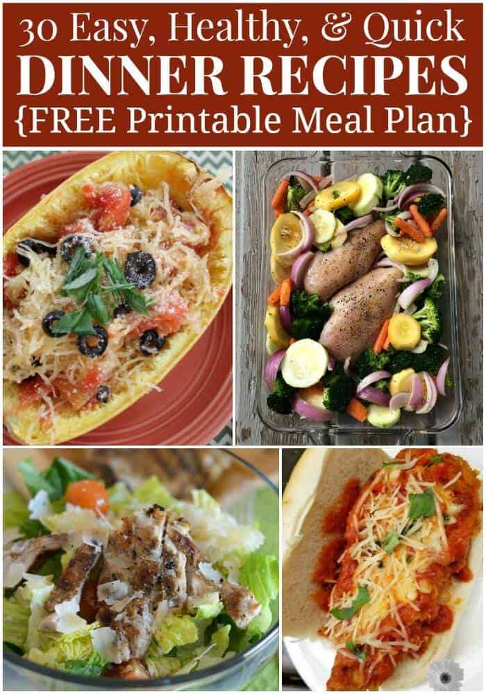 Serve new healthy meals for your family. Print this Free Printable Menu Plan for September. Try the 30 easy, healthy and quick meals