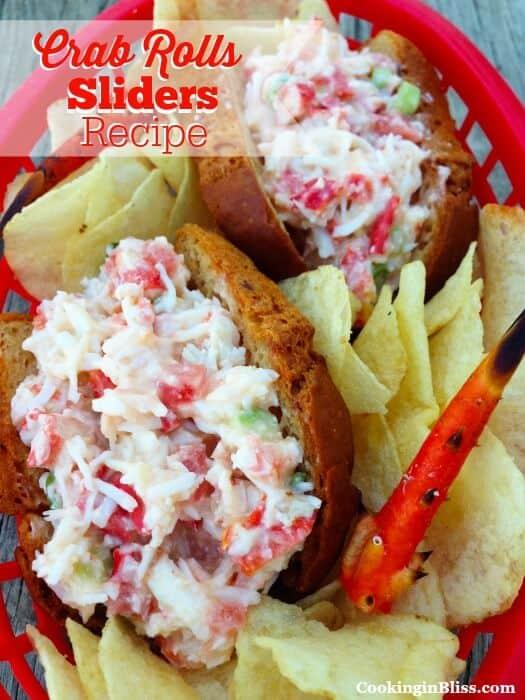 Tasty crab rolls sliders recipe