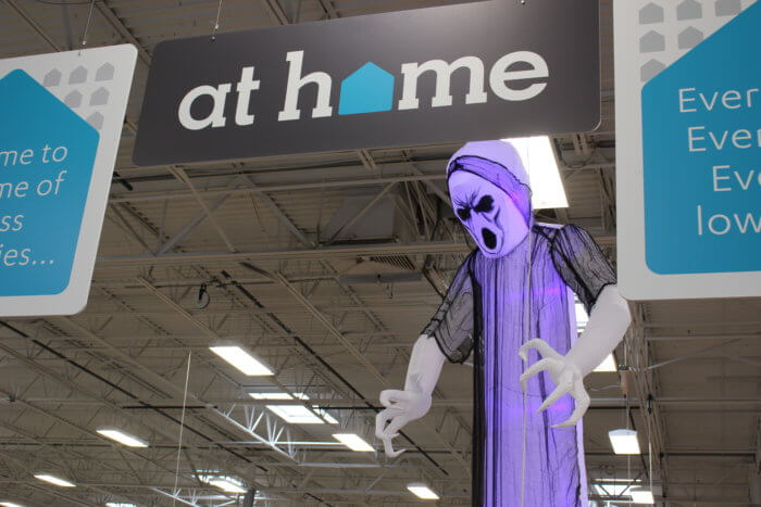Get those cool Halloween decorations for less at At Home Stores.