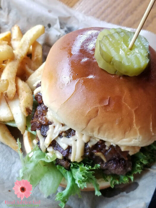 The Loaded Goat burger in Mount Airy North Carolina