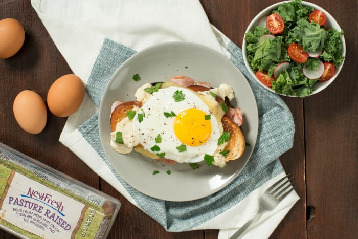 This Classic Croque Madame is topped with a creamy Béchamel sauce and a fried egg, this French ham and cheese sandwich is simple decadence at its best.