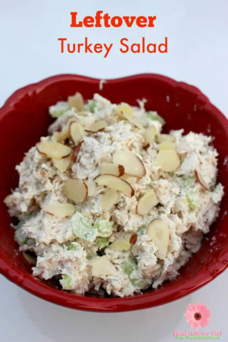 Get your leftover turkey and remake it into this delicious Turkey salad recipe