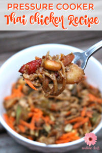 If you love Thai food make sure to try this super flavorful Pressure Cooker Thai Chicken Recipe