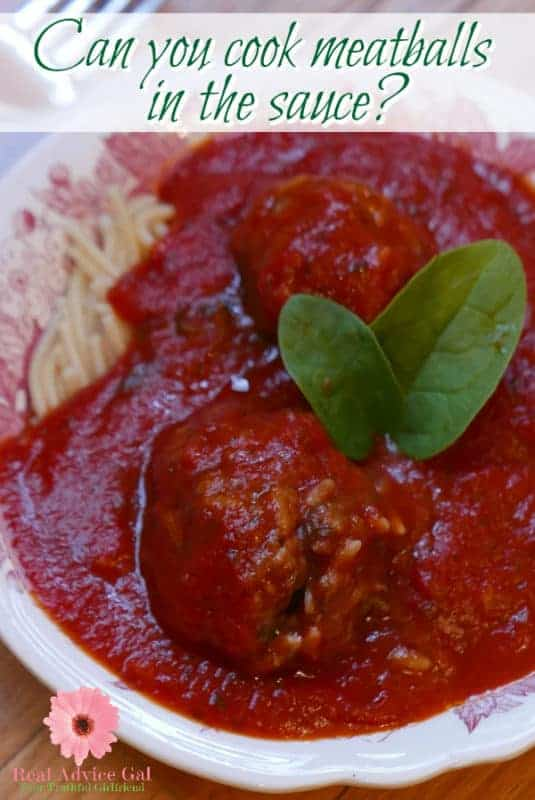 Can you cook meatballs in the sauce? Are you asking the same question? I love easy recipes and better if you can cook them using least amount of dishes. Check out my easy meatballs recipe and how I cook the meatballs in the sauce.