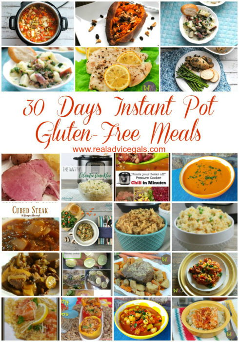 Serve delicious dinner meals for your family every night using your instant pot. Check out this all Gluten-Free Easy Pressure Cooker Meals Menu