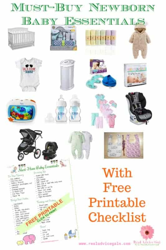 Get ready for your newborn baby with these must have must buy baby essentials. You can also print our checklist so you don't miss anything.