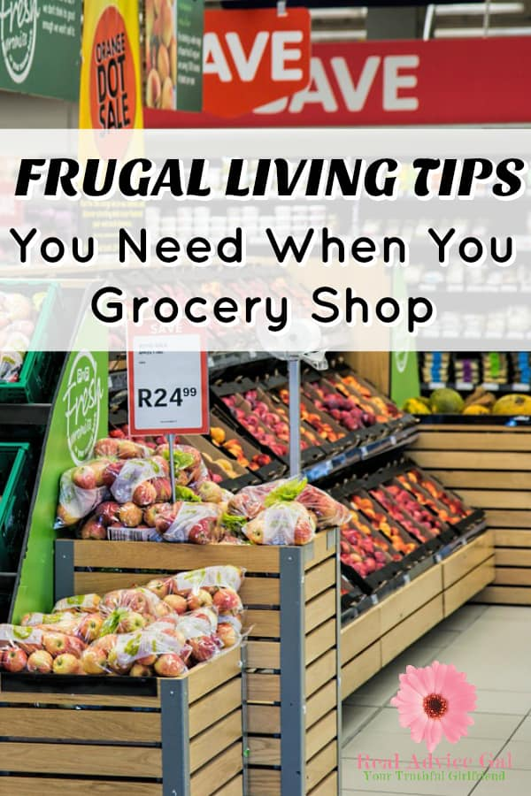 Learn how you can save money when grocery shopping. Read my frugal living things tips that you need when you grocery shop.