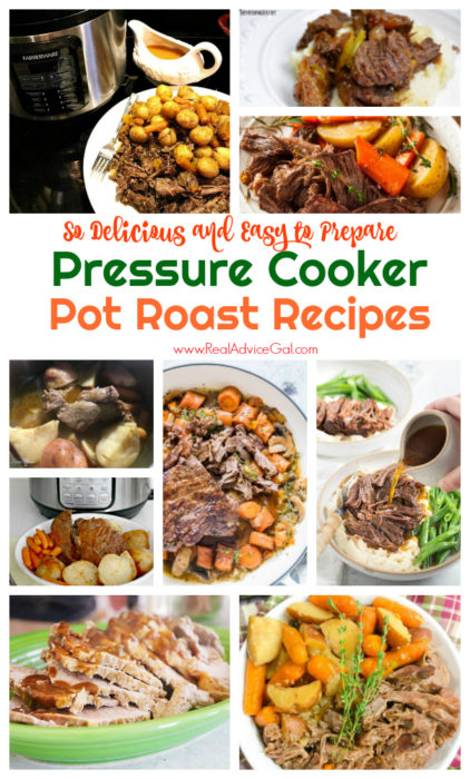 Cooking pot roast is time consuming and difficult to prepare. Good thing because there's an instant pot. Check out these fool proof and super easy to make and so delicious Pressure Cooker Pot Roast Recipes