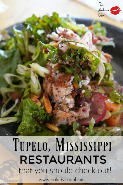 Delicious food from Kermit's Outlaw Kitchen. See my list of Restaurants in Tupelo MS that You Should Check Out!