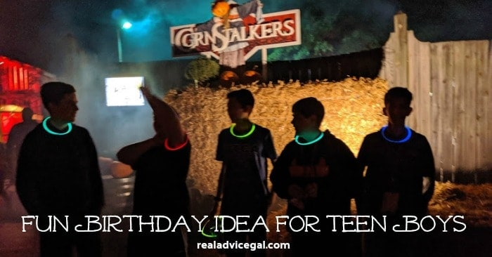 Fun birthday party idea for teen boys is to visit Kings Dominion Halloween Haunt